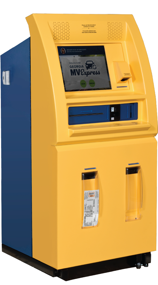 yellow tag kiosk