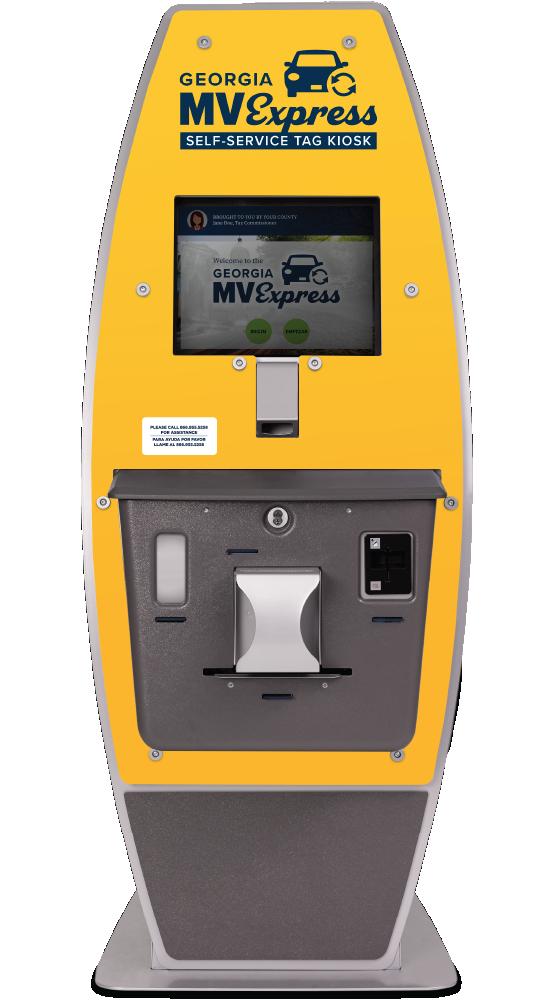yellow tag kiosk